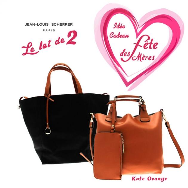 Pack cadeau 2 sacs a main femme SCHERRER Paris Fete des meres 2016