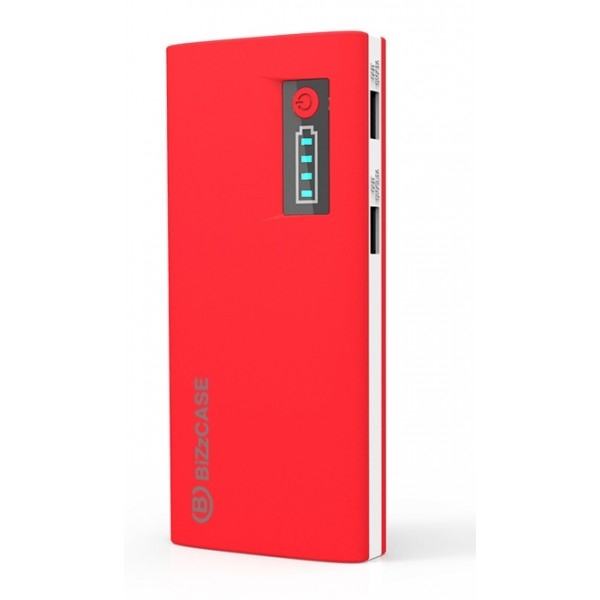place du bonheur bizzcase batterie externe 2 ports usb 13000mah rouge. Black Bedroom Furniture Sets. Home Design Ideas