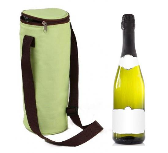place du bonheur autres sac isotherme pour 1 bouteille bicolore vert anis et chocolat. Black Bedroom Furniture Sets. Home Design Ideas