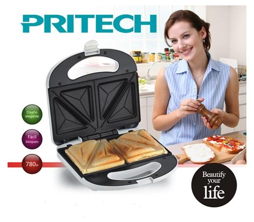 Appareil à croque-monsieur et sandwichs double de PRITECH KH-051