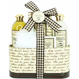 Coffret cadeau soin et beaute pour le bain chocolat