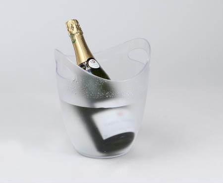 Seau à Champagne et à Glace transparent en PVC rafraichisseur de bouteille