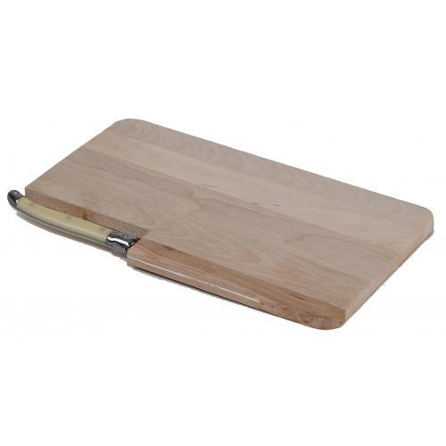 Planche à découper en bois et son couteau Laguiole idéal en communication par l'objet