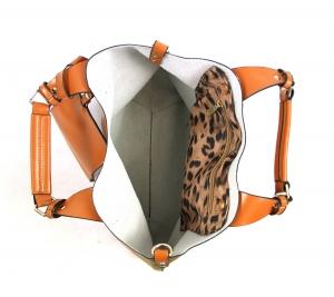 Sac à main pour femme SCHERRER type Cabas à prix discount Collection Kate Camel