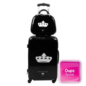 Set de 2 bagages avec valise trolley rigide et vanity Nathalia Noir Rue Princesse Paris