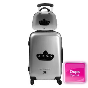 Ensemble bagages offre spéciale valise trolley et vanity Nathalia Silver Rue Princesse