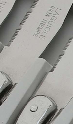 boite 6 couteaux laguiole manche gris pas cher 7209G-6NT