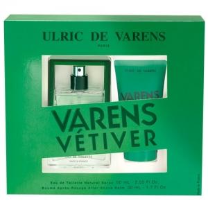 Coffret UDV Ulric de Varens Vaporisateur Eau de toilette 60ml - Baume Après-Rasage Varens Vétiver 50ml