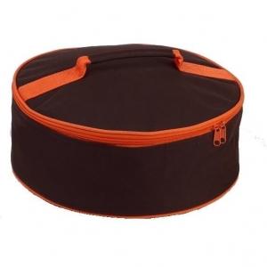 Sac isotherme Rond Lunch box avec poignée de transport bicolore tendance Chocolat Orange