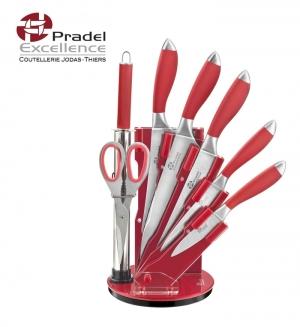 Bloc support pour cuisine Couteaux et accessoires Rouge PRADEL EXCELLENCE