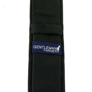 Coffret cadeau Cravate Gentleman Farmer pour homme Noir Uni avec écrin luxe
