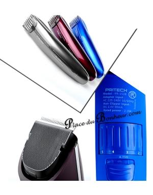 Tondeuse Professionnelle Barbe et cheveux design moderne PRITECH Pr1528 GRISE