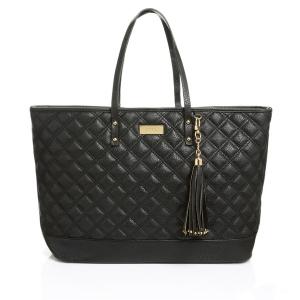 sac a main femme BCBG Paris Quilted Tote B055 Noir matelassé pas cher