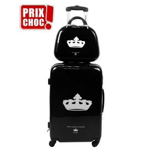 Set de 2 bagages avec valise trolley rigide et vanity Nathalia Noir Rue Princesse