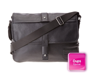 sac bandoulière messenger hard and heavy Calvin Klein en cuir