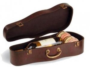 Coffret cadeau pour 1 bouteille de vin en bois Aspect Violon