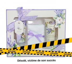 Coffret cadeau pour le Bain à la Lavande Les Belles Fleurs avec son Cadeau Mini Baignoire de bain