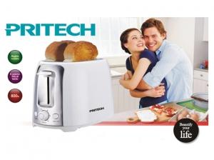 Grille pain Pritech design moderne blanc et argent KI-035