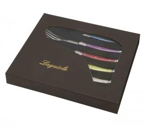 coffret cadeau luxe pour la cuisine Laguiole Pastel fourchettes pas cheres