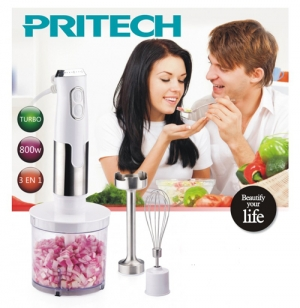 Mixeur 3 en 1 Hachoir Blender Batteur fonction turbo PRITECH KC029