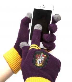 Gants magic touch pour tablette Gryffondor Bordeaux Harry Potter