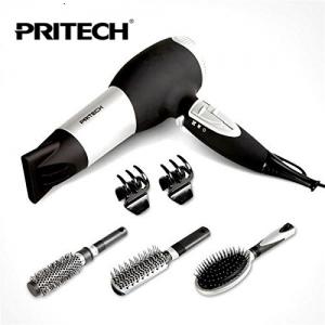 Coffret Seche cheveux professionnel avec accesoires PRO LD-6071 PRITECH Pas Cher