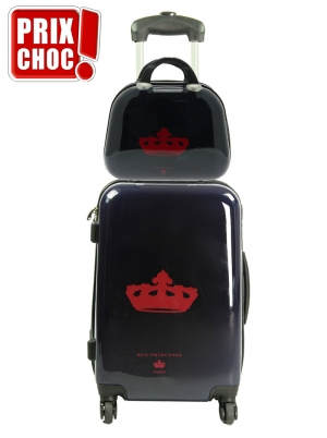 Set bagagerie Rue Princesse valise cabine et vanity Nathalia Bleu Marine