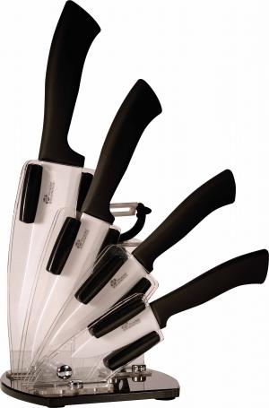idee cadeau pour la cuisine support avec 4 couteaux céramique PRADEL EXCELLENCE