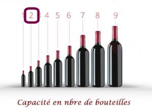 Coffret cadeau en simili cuir pour 2 bouteilles bicolore Noir et Rouge Vin ou champagne