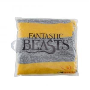 Echarpe jaune et grise Les animaux fantastiques Dragoneau Harry Potter