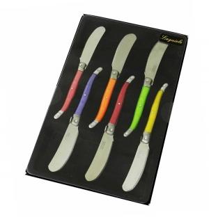 Boite de 6 couteaux à beurre Laguiole
