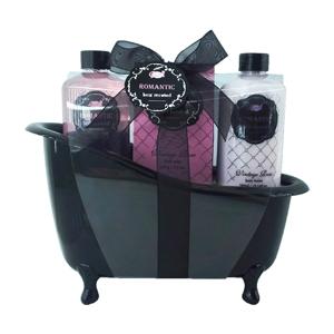 Coffret cadeau baignoire pour le bain Romantic Fleurs de Roses Vintage