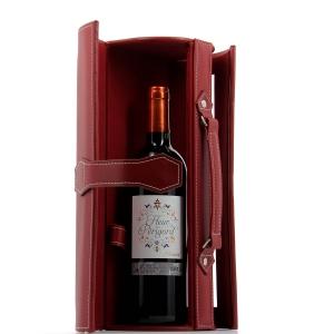 Coffret cadeau pour bouteille de vin couleur marron