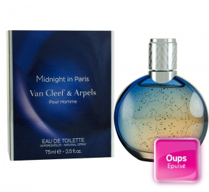Eau de toilette pour homme Midnight in Paris 75ml Van Cleef and Arpels