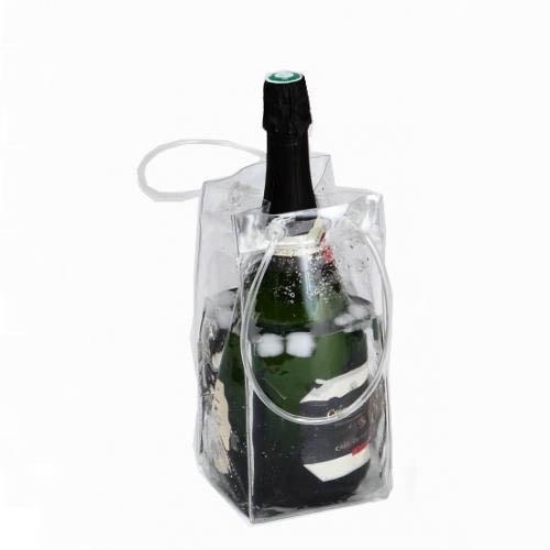 place du bonheur df vannerie sac glace pliable rafraichisseur transparent pour bouteille. Black Bedroom Furniture Sets. Home Design Ideas